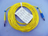 10M Leviton Fiber Optic Single-Mode Simplex Patch Cable Cord ST SC UPC UPSCT-S10