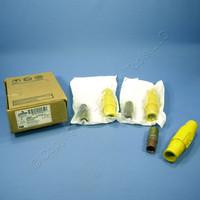 3 Leviton Yellow Female Cam Plugs 17 Series 350-500MCM Crimped 690A 600V 17V25-Y