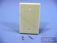 New Leviton Almond 1-Gang Blank MIDWAY Box Mount Plastic Wallplate Cover 80514-A
