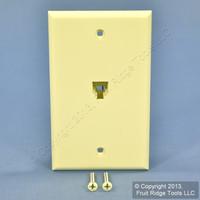 Leviton Almond 4-Wire Phone Jack Wallplate RJ11 Modular Telephone C0249-A