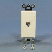 Eagle White Flush Mount 4-Conductor Decorator Voice/Data Modular Wall Jack 3560-4W