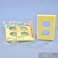 3 Leviton UNBREAKABLE Ivory Receptacle Wallplates Nylon Duplex Outlet Covers 80703-I