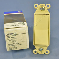 New Eagle 3-Way Ivory Decorator COMMERCIAL Rocker Wall Switch 20A 120/277V 6623V