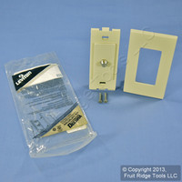 Leviton Ivory Decora Wallplate Insert F-Type Coaxial Cable Video Jack 80381-I