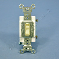 Leviton Ivory COMMERCIAL Framed Toggle Wall Light Switch 20A Single Pole 54521-2I Bulk