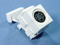 Leviton White QuickPort 4-Pin S-Video Jack 110 Termination Cat 5 5e 6 40734-W