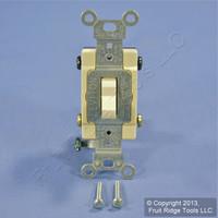 Leviton Ivory 4-Way COMMERCIAL Quiet Toggle Wall Light Switch 15A Bulk CS415-2I