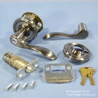 New RIGHT Weslock Traditonale Bordeau 640 Weathered Pewter Keylock Lever Handle