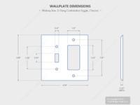 Leviton White Combination Toggle Switch Plate Decora GFCI Receptacle Wallplate Cover PJ126-W