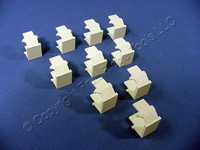 10 New Leviton Almond Quickport Wallplate Blank Filler Inserts 41084-BAB 41084-A