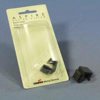 2 Cooper Aspire Silver Granite Solid Modular Wallplate Blank Port Filler Inserts 9558SG