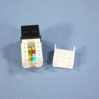 Cooper Black Cat5e Snap-In Modular Data Jack 110 Style 8-Position RJ45 5547-5EBK