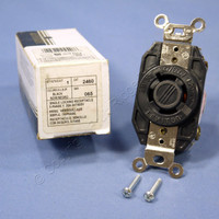 Leviton L20-20 Turn Locking Receptacle V0 Turn Twist Lock Outlet NEMA L20-20R 20A 347/600V 3ØY 2460