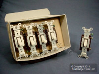 10 Leviton Almond COMMERCIAL Toggle Switches 15A CS115-2A