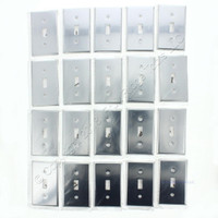 20 Leviton Standard 1-Gang Chrome-Plated Toggle Switch Wall Plate Cover Switchplates 1901