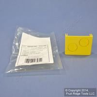 """Leviton Yellow Fiber Patch Panel Raceway Duct Conduit 2""""x2"""" End Cap S2END-20D"""