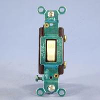 Eagle Ivory COMMERCIAL Single Pole Toggle Light Switch 15A 120/277V Bulk CS115V