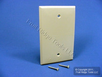 Leviton Ivory UNBREAKABLE Midway Blank Wallplate Thermoplastic Box Mount Cover PJ13-I