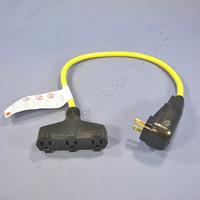 Cooper Industrial Manual Reset 2' GFCI GFI TrI-Tap Cordset 15A 120VAC GFP11M1P9