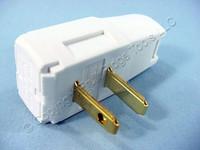 Leviton SIDE MOUNT RIGHT ANGLE Easy-Wire Plug 15A 1-15P 125V Non-Polarized 321-W