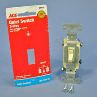 Ace Ivory Residential Grade 3-Way Quiet Toggle Wall Light Switch 15A 120V 31119