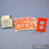 10 New Unbreakable Leviton Orange ISOLATED GROUND Receptacle Wallplates 80703-IG