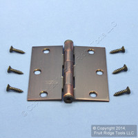"National Hardware #V512 Antique Bronze Finish Steel 3-1/2"" Removable Pin Cabinet Door Hinge N336-792"
