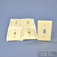 5 Leviton Almond Standard 1Gang Toggle Switch Cover Wallplate Switchplates 82001