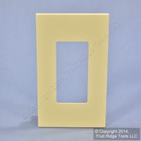 Leviton Ivory 1-Gang 1-Narrow Device Monet Snap-On Wallplate MNW10-I