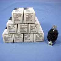 10 Leviton L20-20 Turn Locking Receptacles Turn Twist Lock Outlets NEMA L20-20R 20A 347/600V 3ØY 2460-061