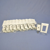 10 Leviton White Decora Phone Jack Telephone Wallplates 4-Conductor 6-Position Type 625 40649-W