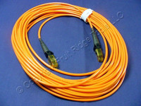10M Leviton Fiber Optic Multi-Mode Duplex Patch Cable Cord MT-RJ 50mic 50DMJ-M10