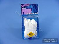 Leviton White 25 Ft Phone Cord Telephone Line 6-Wire Modular C2613-25W