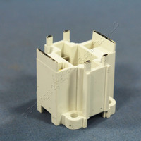 Leviton Compact Fluorescent Lamp Holder CFL Light Socket G24d-1 Base Bottom Snap-In 2-Pin 10W 13W 2-Pin 26725-211