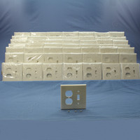 50 Leviton MIDWAY White 2-Gang Switch Receptacle Wallplates Outlet Switchplate Covers 80505-W
