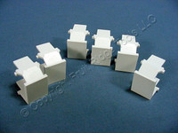 6 New Leviton White Quickport Wallplate Snap-In Blank Filler Plate Inserts 41084-BWB 41084-W