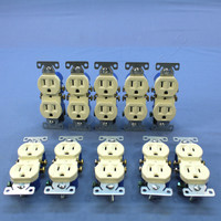 10 Cooper Almond Straight Blade Duplex Outlet Receptacles NEMA 5-15R 15A 270A