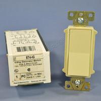Pass & Seymour Ivory Decorator Rocker Switch 4-WAY 874-IG