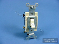 Leviton Almond Quiet 4-Way COMMERCIAL Toggle Wall Light Switch 15A Bulk CS415-2A