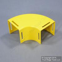 """Leviton Yellow Fiber Patch Panel Raceway Duct Conduit 2""""x2"""" Horizontal 90° Elbow S2END-20D"""
