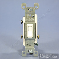 Leviton White 3-Way Toggle Wall Light Switch 15A Heavy Duty S453-W Bulk