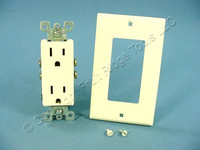 DIB Almond Straight Blade Decorator Receptacle Outlet NEMA 5-15R 15A 125V 552453