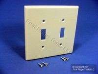Leviton Ivory MIDWAY 2-Gang Toggle Switch Cover Wall Plate Switchplate 80509-I