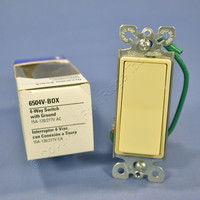 Eagle Commercial Ivory 4-Way Decorator Quiet Rocker Wall Light Switch 15A 6504V