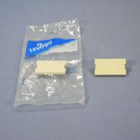 2 Leviton Ivory 1-Unit MOS Blank Filler Wallplate Insert Cover Modules 41291-1BI