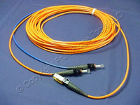 10M Leviton Fiber Optic Multi-Mode Duplex Patch Cable Cord MT-RJ ST 50 50DTM-M10