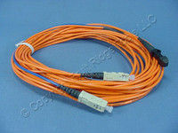 10M Leviton Fiber Optic Multi-Mode Duplex Patch Cable Cord MT-RJ DX-SC 498MC-M10