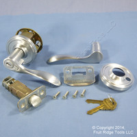 6 RIGHT Weslock Traditonale Bordeau 640 Satin Chrome Keylock Lever Door Handles