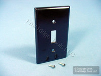 Leviton 1-Gang Brown Toggle Switch Thermoset Cover Wall Plate Switchplate 85001