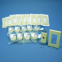 10 Leviton Ivory Decora 8-Wire Phone Jacks Telephone Modular Outlet Wall Plate 40680-I